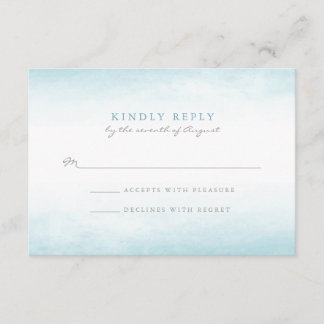 Aqua Tides | Watercolor RSVP