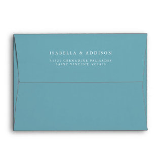 Aqua Tides | Watercolor Wedding Envelope
