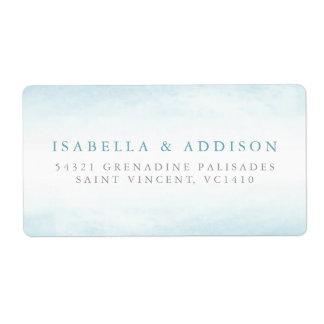 Aqua Tides | Watercolor Wedding Label
