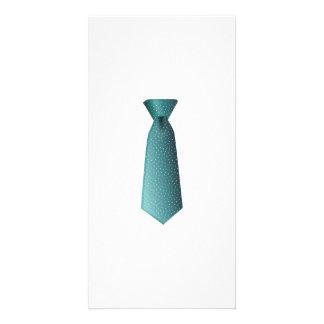 Aqua Tie Picture Card