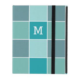 Aqua Tile Pattern custom monogram device cases