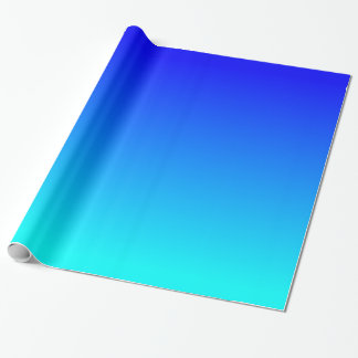 Aqua to Blue Gradient Wrapping Paper