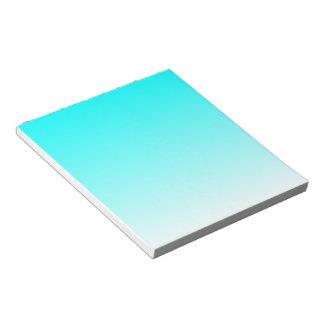 Aqua to White Gradient Notepad