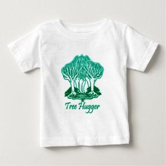 Aqua Tree Hugger Nature Environmentalist Baby T-Shirt