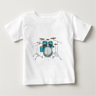 Aqua / Turquoise Drum Kit: Baby T-Shirt