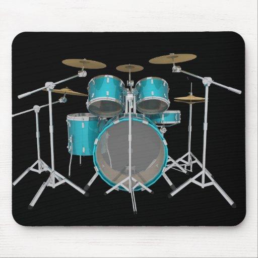 Aqua / Turquoise Drum Kit: Mousepad