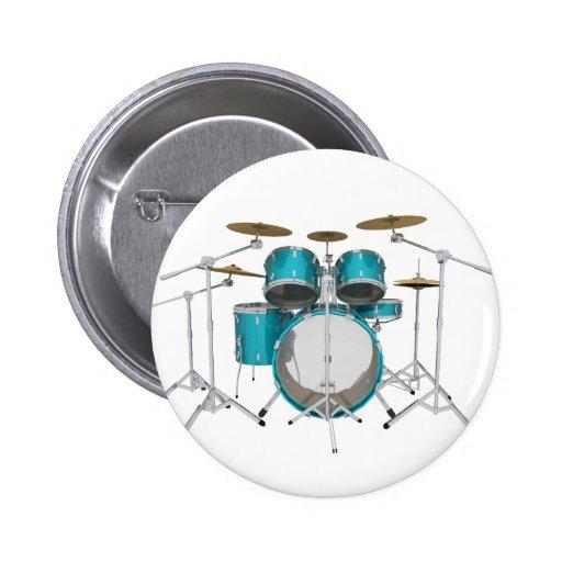 Aqua / Turquoise Drum Kit: Pins
