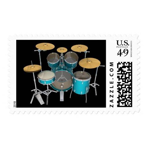 Aqua / Turquoise Drum Kit: Postage