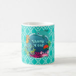 Aqua Turquoise Ocean Life Baby Shower Coffee Mug