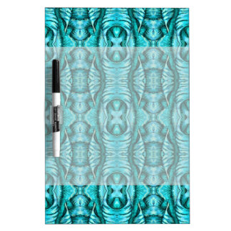 Aqua Turquoise Ocean Wing Organic Pattern Dry-Erase Board