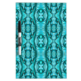 Aqua Turquoise Ocean Wing Organic Pattern Dry Erase Boards