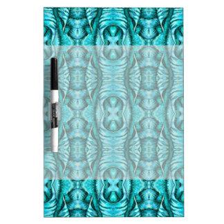 Aqua Turquoise Ocean Wing Organic Pattern Dry Erase White Board