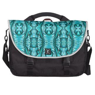 Aqua Turquoise Ocean Wing Organic Pattern Bag For Laptop