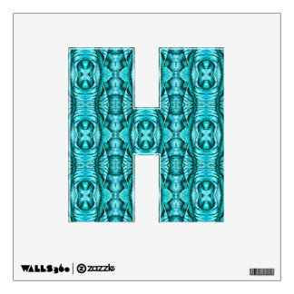 Aqua Turquoise Ocean Wing Organic Pattern Wall Decal