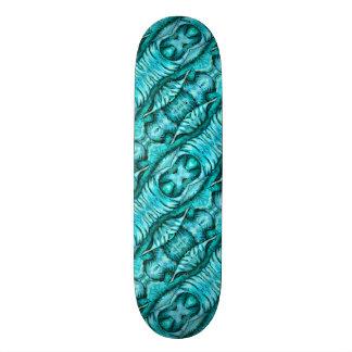 Aqua Turquoise Ocean Wing Organic Skateboard Deck