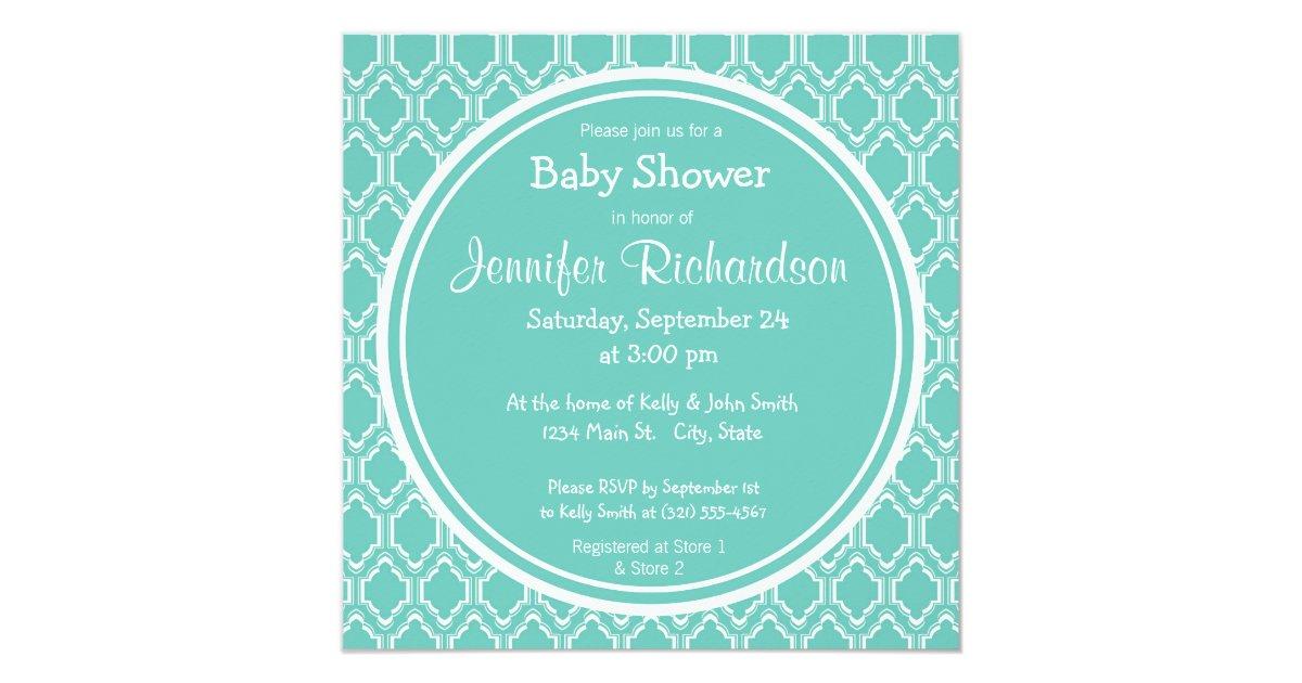 aqua turquoise retro baby feet baby shower card zazzle