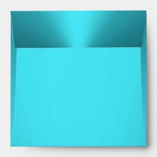 Aqua Turquoise Teal Blue Envelope Square