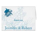 Aqua Turtle Love Anniversary Thank You Card