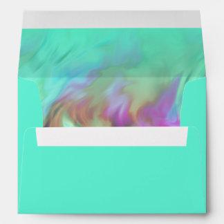 Aqua Tye Dye Design Envelope