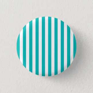 Aqua Vertical Stripes Pinback Button