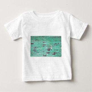 Aqua Vintage Brick Wall Texture Baby T-Shirt