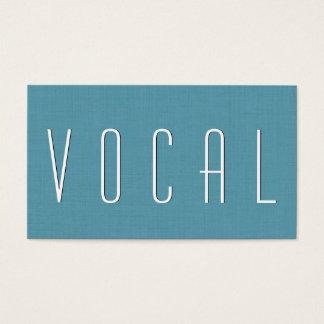 Aqua VOCAL COACH Simple Style V52 Business Card
