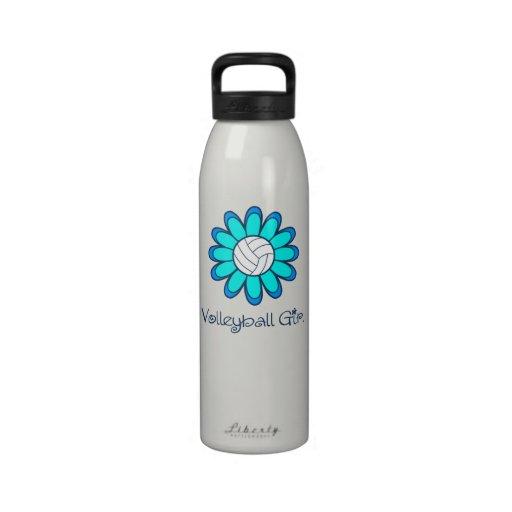 Aqua Volleyball Girl Drinking Bottle