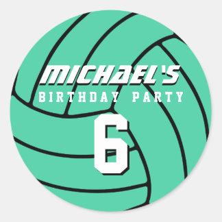 Aqua Volleyball Sticker Sports Kids Birthday Party
