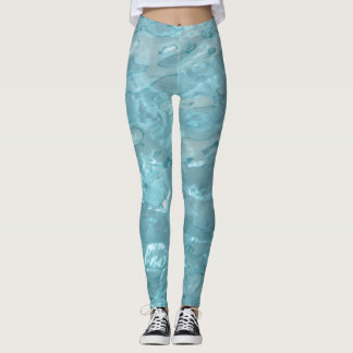 Aqua water Abstract Picture Enhanced Leggings