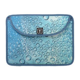 Aqua Water Drops Sleeve For MacBooks