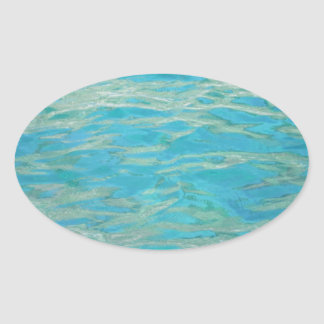 Aqua Water Oval Sticker