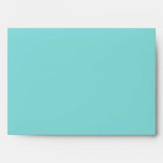 Aqua Water Painting 5x7 Invitation Envelope
