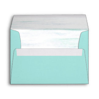 Aqua Watercolor Envelope