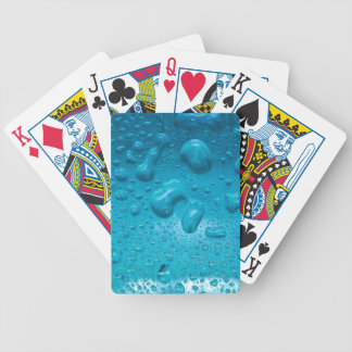 Aqua Waterdrops on Glass:- Bicycle Playing Cards