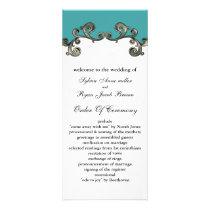aqua Wedding program