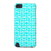 Aqua Whimsical Owl Pattern iPod Touch (5th Generation) Case