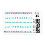 Aqua White Aztec Arrows Pattern Postage Stamps