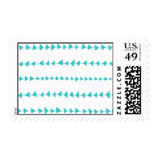 Aqua White Aztec Arrows Pattern Stamp