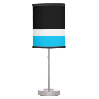 Aqua White Black Colorblock Table Lamp