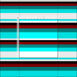 [ Thumbnail: Aqua, White, Black, Dark Red & Dark Cyan Colored Fabric ]