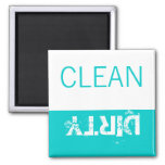 Aqua White Clean or Dirty Magnets for Dishwasher Magnet