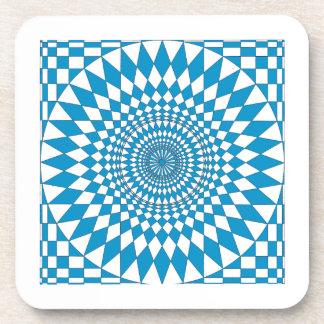 Aqua & White  Geometric Circle Design  coasters