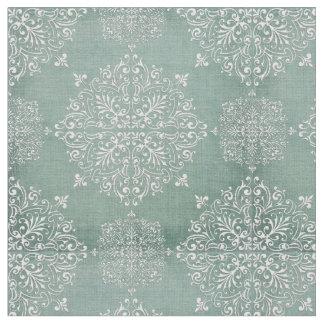 Aqua & White Lace Fabric