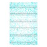 Aqua White Mosaic Stationery w/ Optional Lines