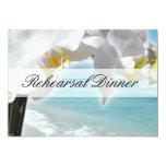 "Aqua/White Orchid Beach Rehearsal Dinner Invite 5"" X 7"" Invitation Card"