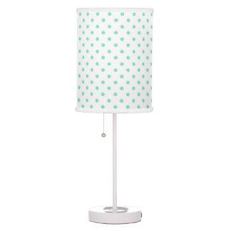 Aqua - White Polka Dot Lamp Shade