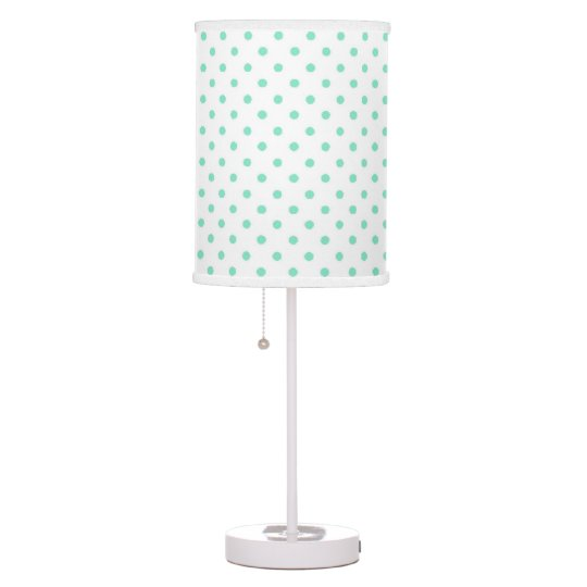 Aqua white polka dot lamp shade zazzle aqua white polka dot lamp shade aloadofball