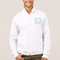 Aqua White Quatrefoil | Your Monogram Jacket