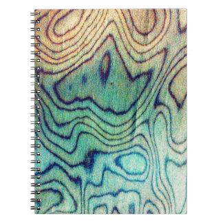 Aqua Wood Note Books
