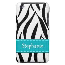 Aqua Zebra Print iPod Touch 4th Gen Case-Mate Cove